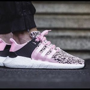 Adidas EQT Pink Glitch Men's Knit Athletic Shoes